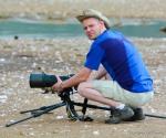Bloggforfatteren på stranden.